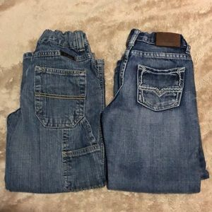 2 pairs boys size 5 jeans